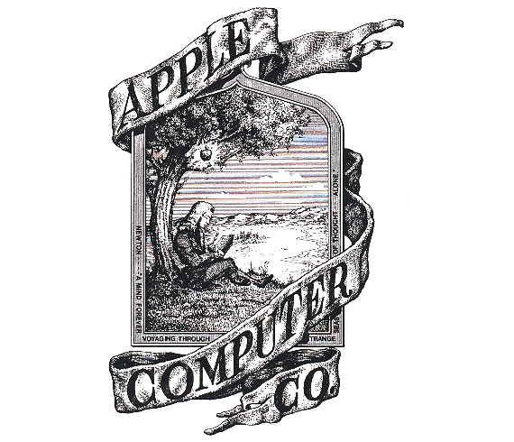 The first ever Apple logo took its cue from Wordsworth, taking his cue from Newton and his PRISM
