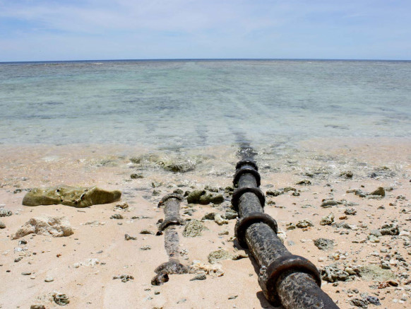 Cable Landing Site, Guam. Image: WIRED