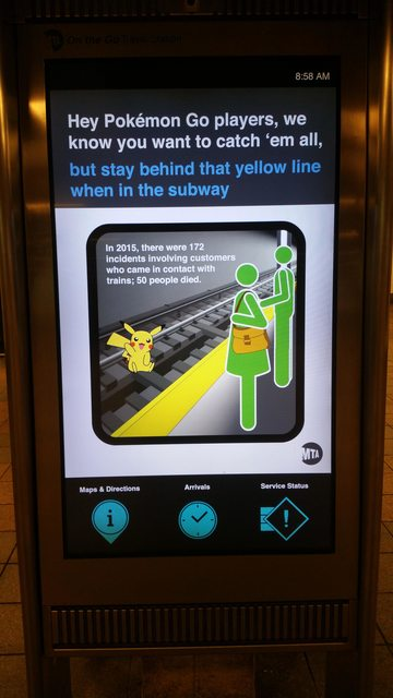 nyc subway warning pokemon